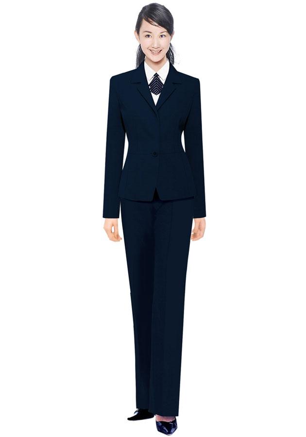 黑色西服式短裙