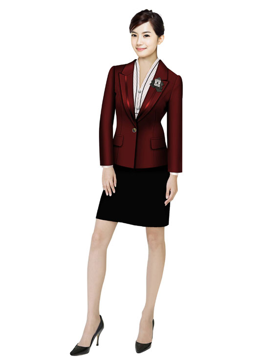 红色西服式短裙款式