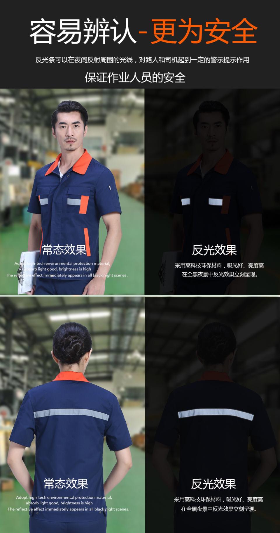艳兰色夏季工服FY613