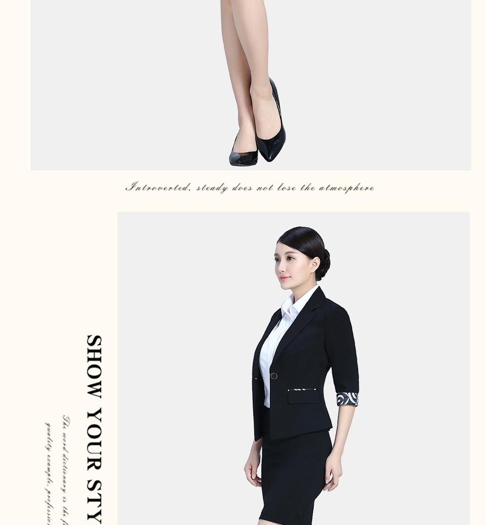 夏装黑色女半袖职业装女装