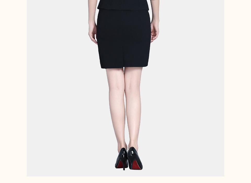 夏装半袖职业黑色女装
