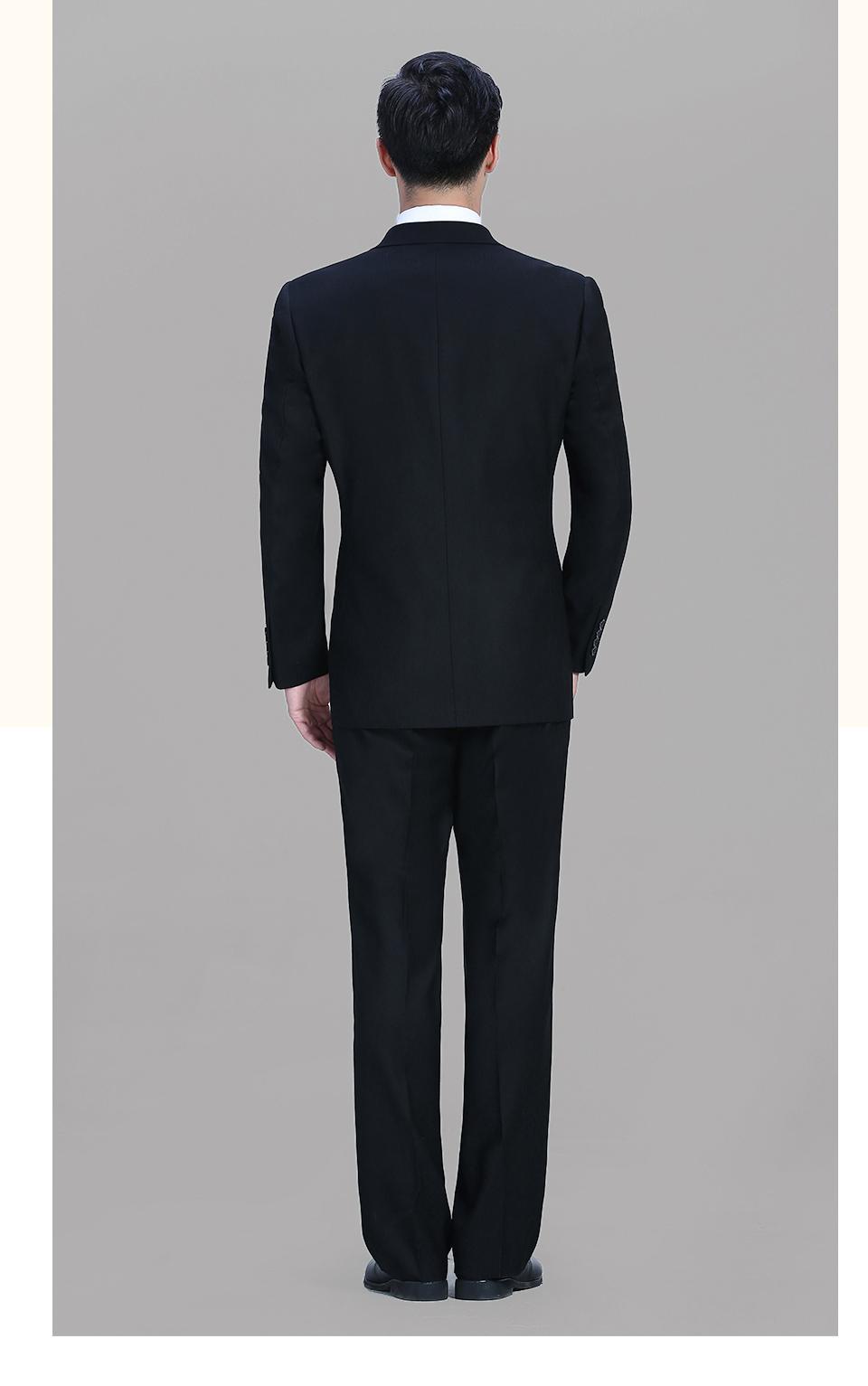新款黑色男士休闲西装商务二粒扣西服FX002