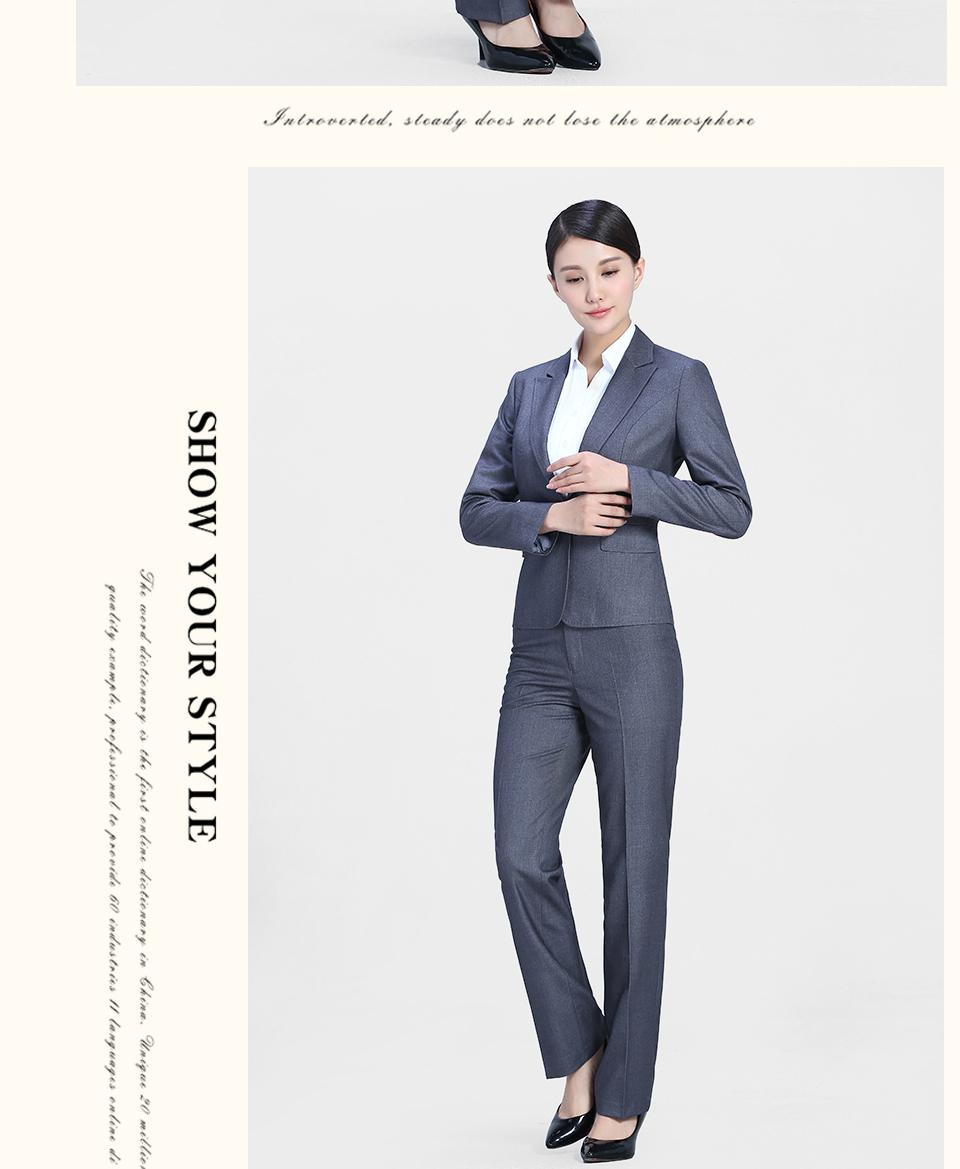 新款灰色一粒扣职业女装
