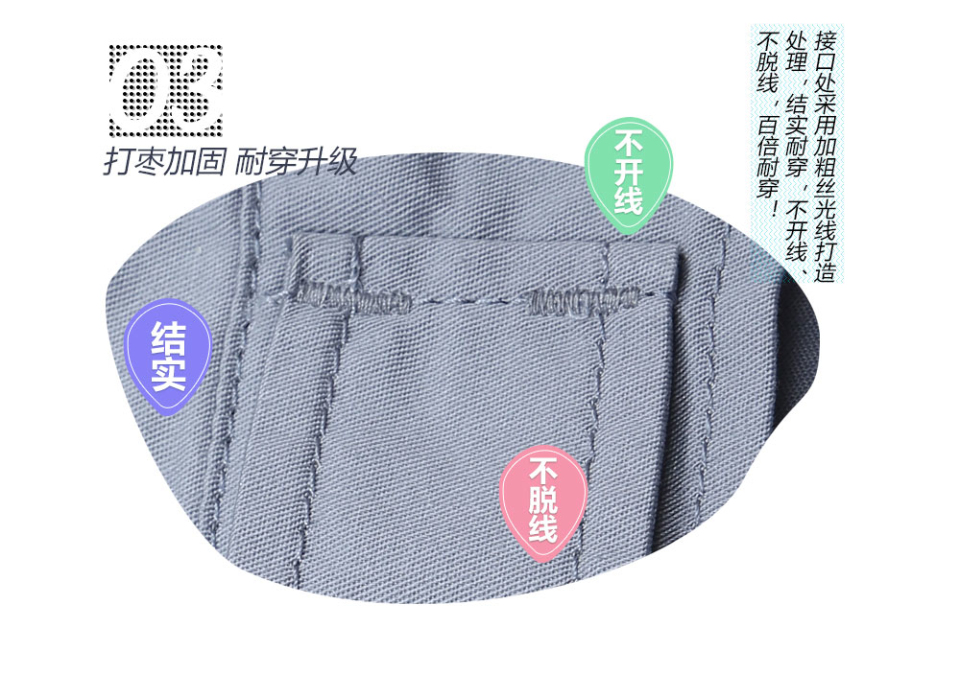 新款深蓝色夏季工服FY613