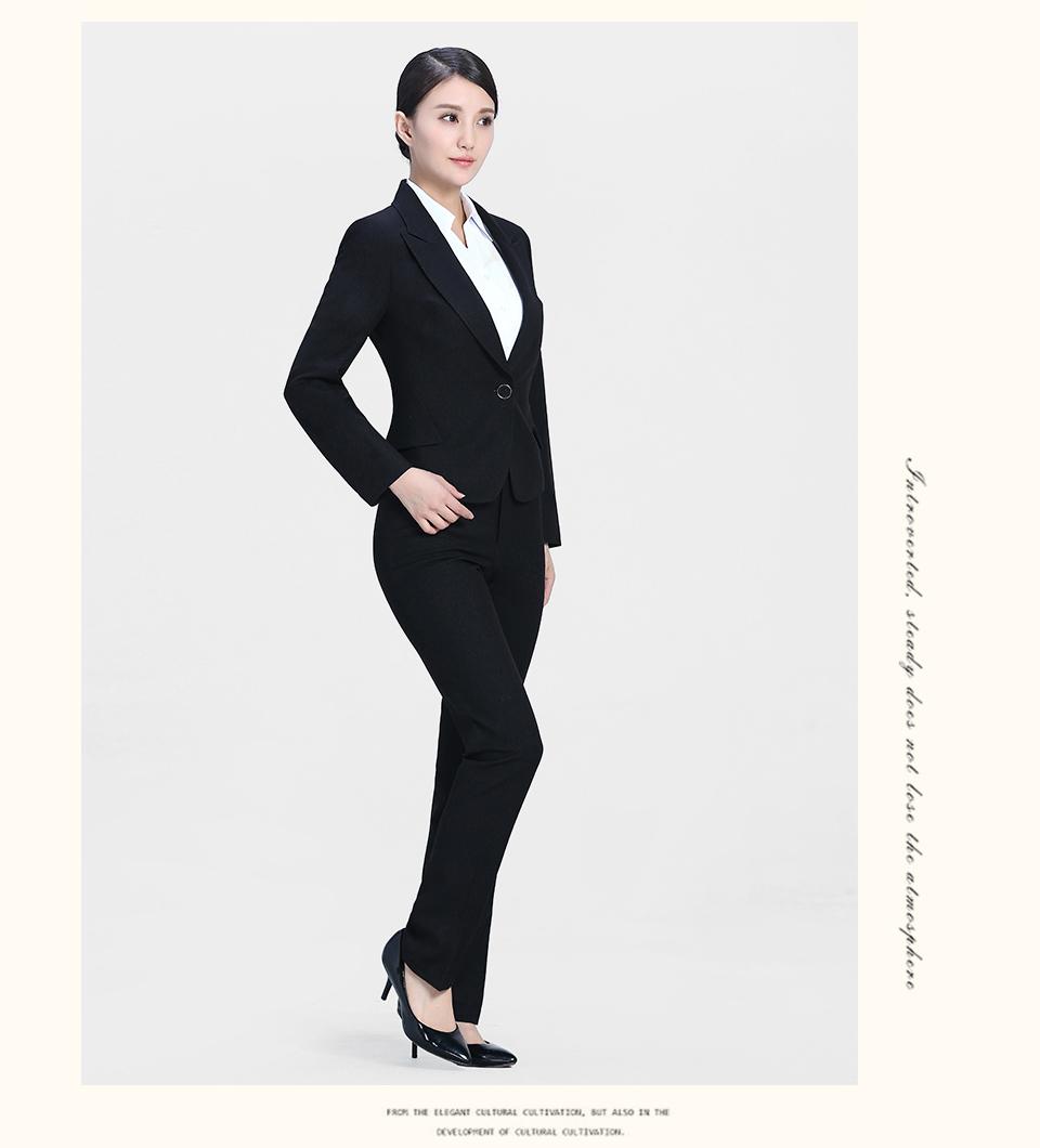 新款黑色职业套装