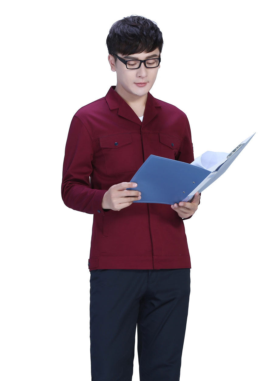 2019新款桔红+深裤春秋工作服FY8001
