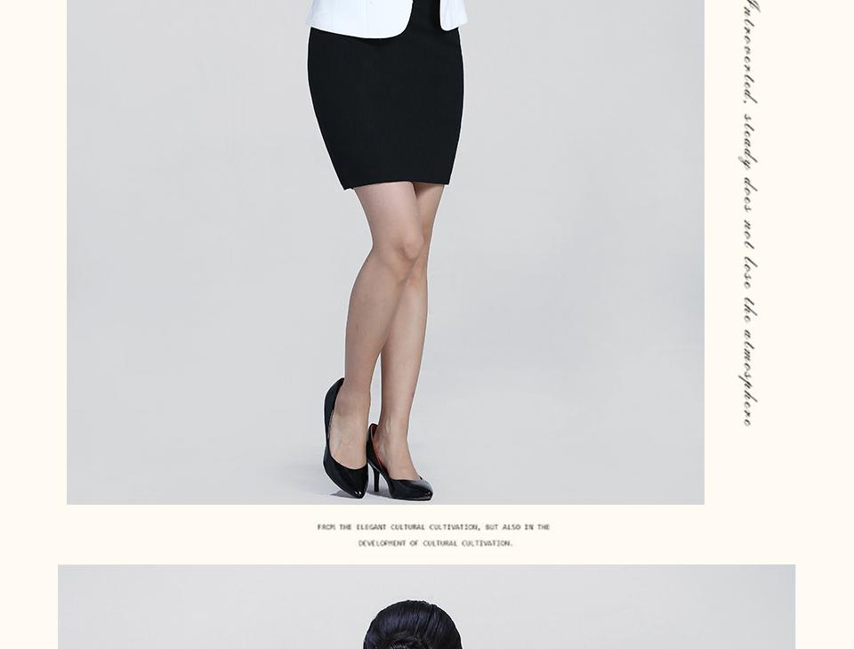 2019新款白色半袖职业女士套装