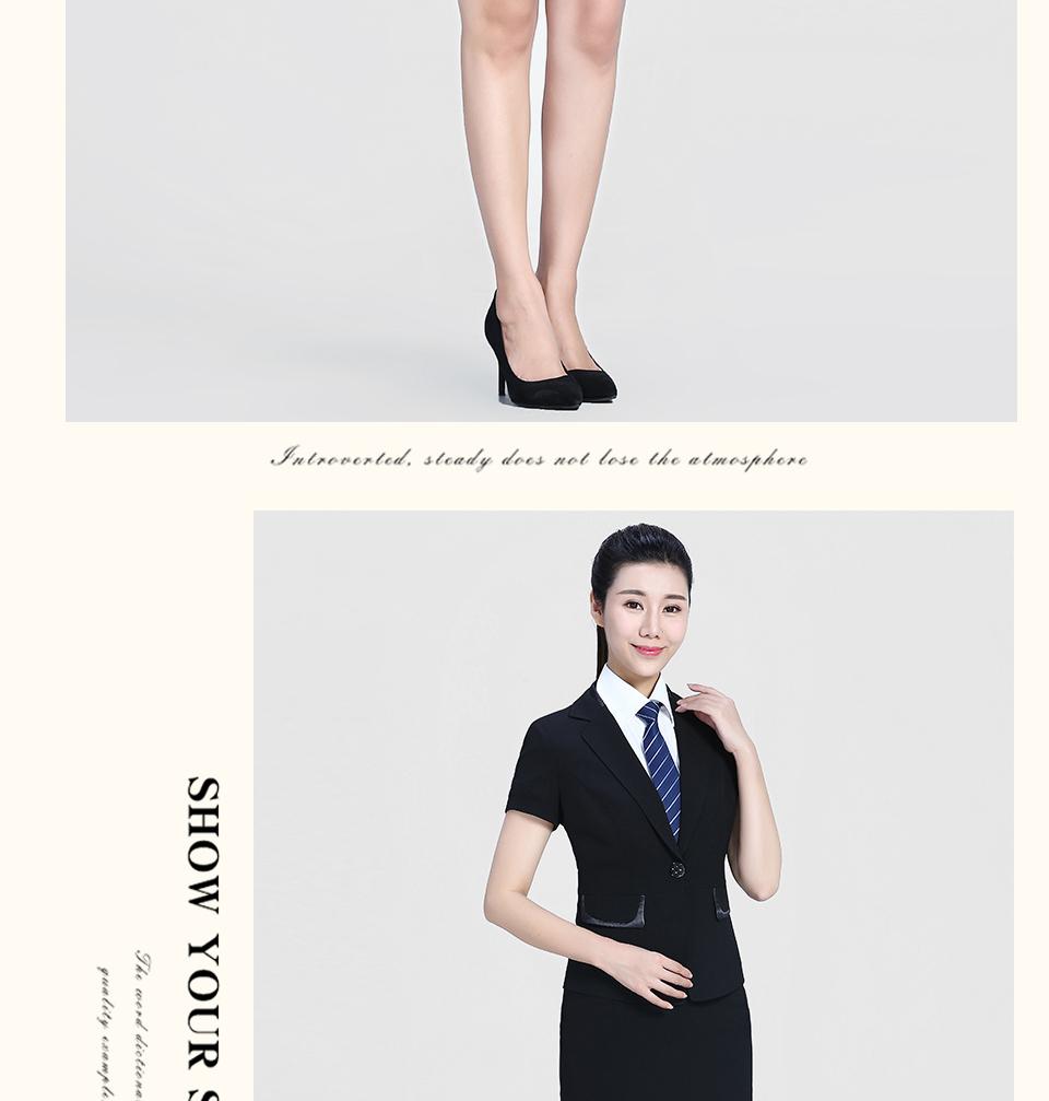 2019黑色半袖女士套装FX05