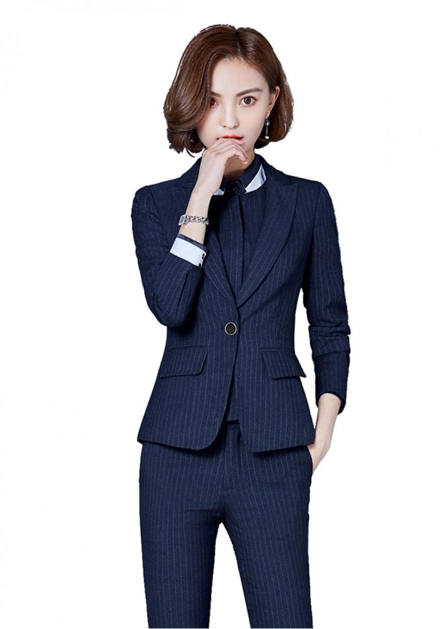 2019新款蓝色女士商务西装
