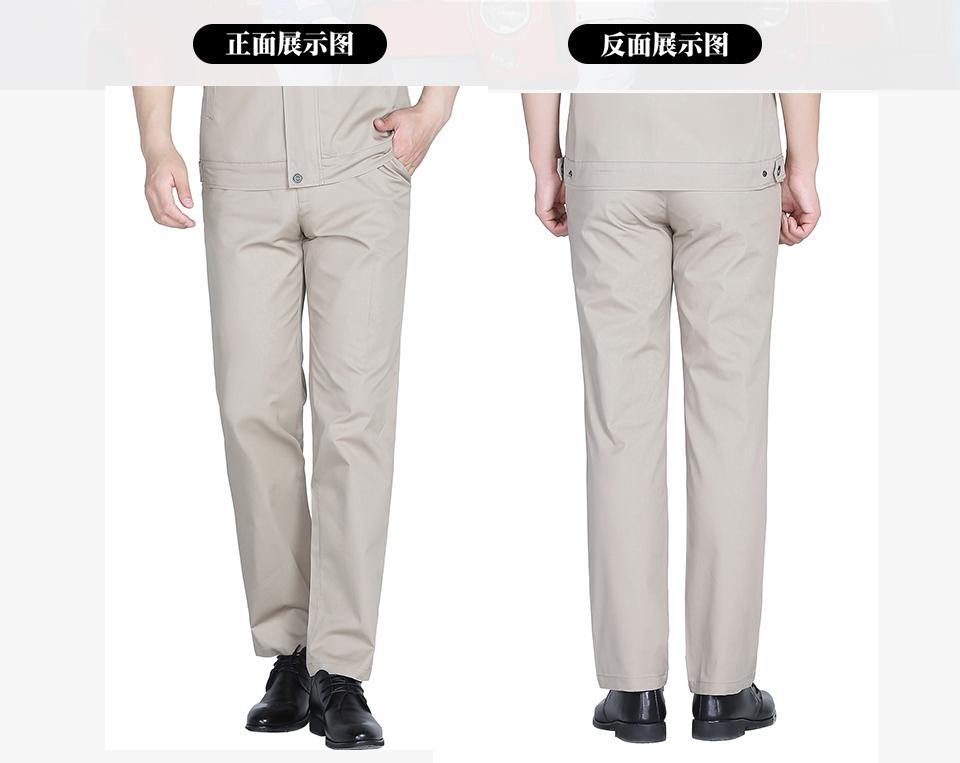 2019新款蓝灰色夏季涤棉斜纹休闲工装裤